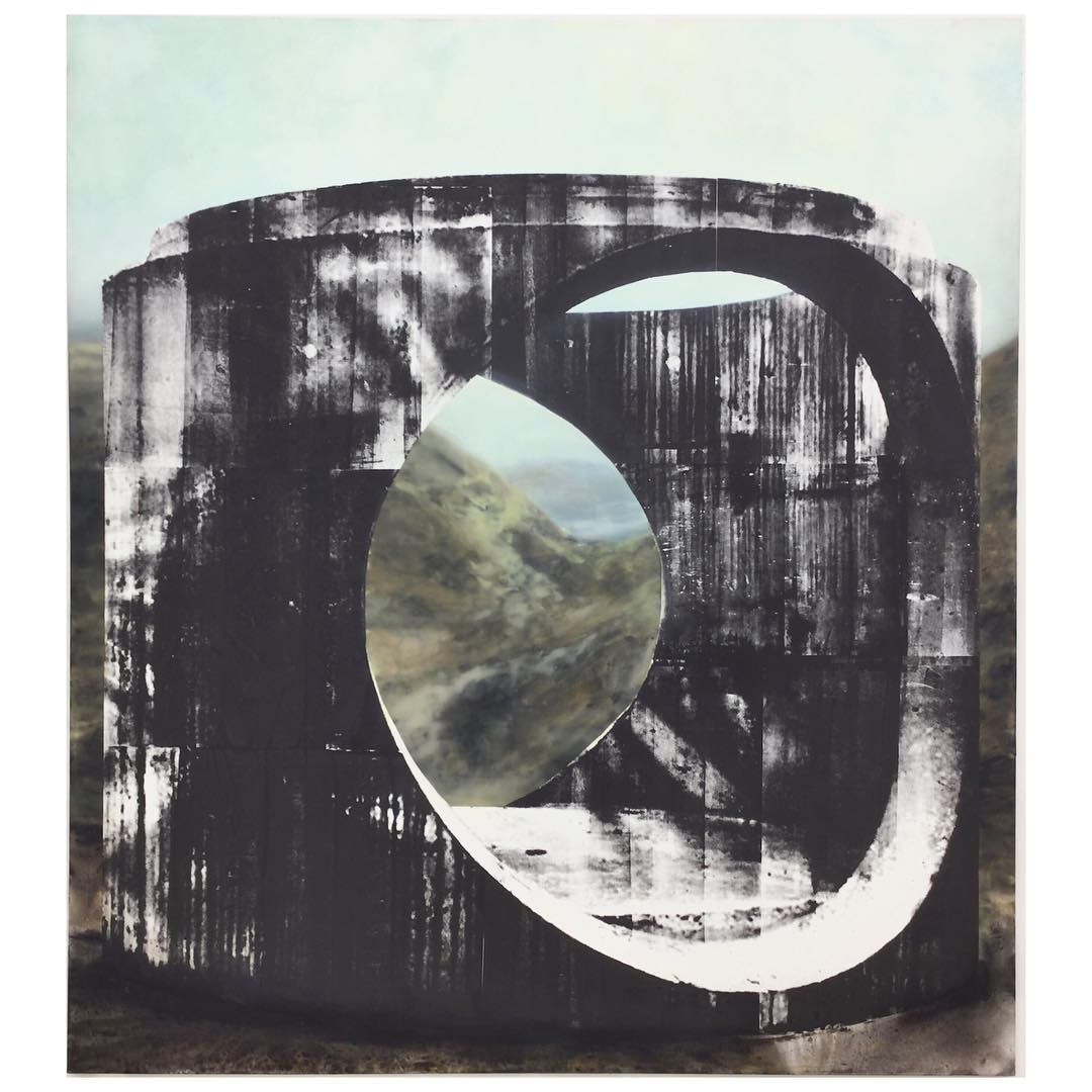 Glorious landscapes blocked from view transparent painting behind serigraphy hellip
